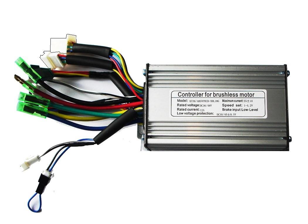 Kunteng Sinus-Controller 36/48Volt 500 Watt 25A mit Licht/Temp-Anschluss