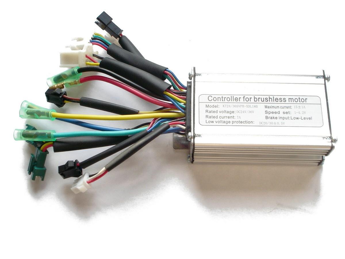 Kunteng Sinus Controller 24/36V 250W Sensor-Motor mit Lichtanschluss