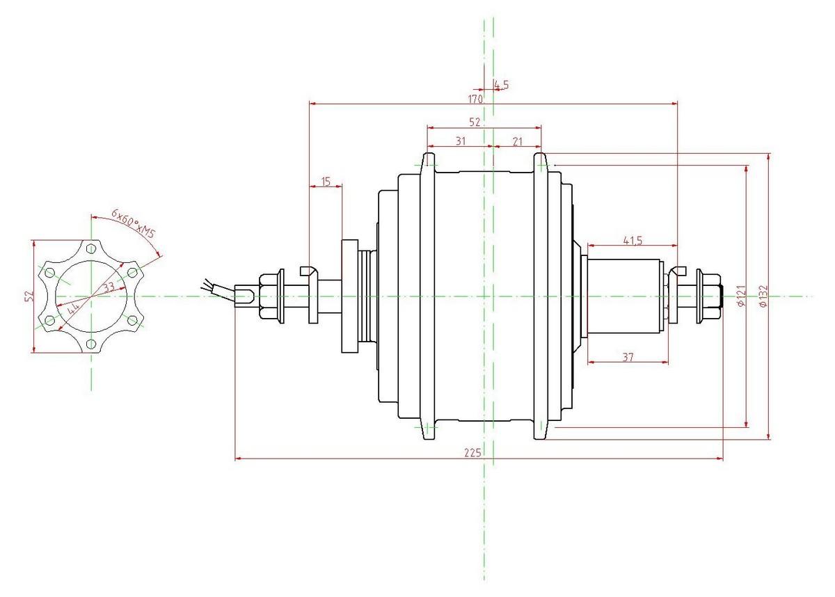 Fatbike Xiongda 2-Gang Motor 36V 250/350W Kassette