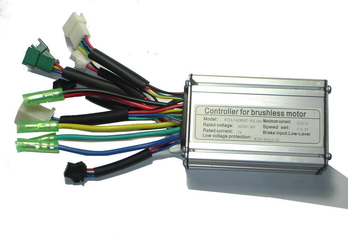 Kunteng Square Controller 24/36V 250W sensor/sensorlose Motoren mit Licht